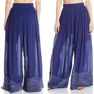 Mara Hoffman Waves Embroidered Beach Pants